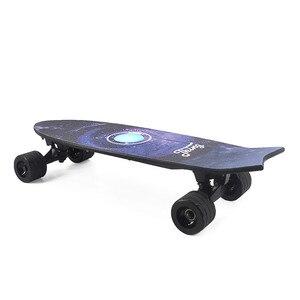 Image 2 - חדש חשמלי סקייטבורד עם מוסיקה קל משקל קטנוע E סקייטבורד E אופניים ליתיום סוללה מופעל עבור למבוגרים