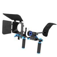 DSLR Rig Caméra Stabilisateur D'épaule Film Film Soutien Kit Follow Focus Matte Box pour Canon Nikon Sony Caméscope