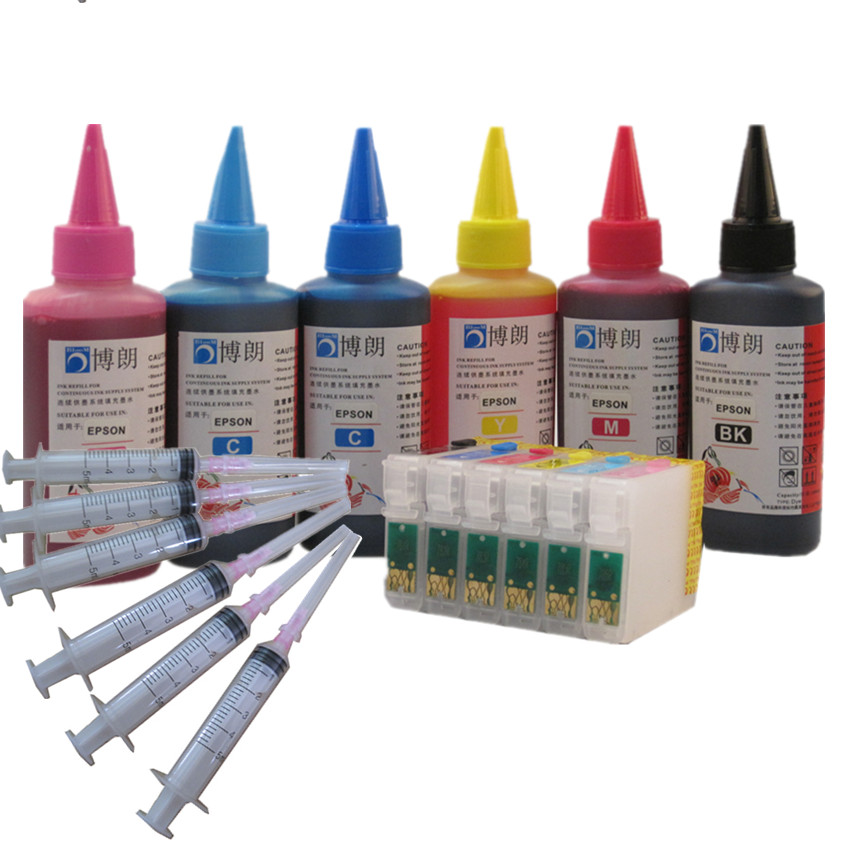 6color sublimation ink T0791 T0796 79 ink cartridge for Epson Stylus Photo 1400 1500W P50 Artisan