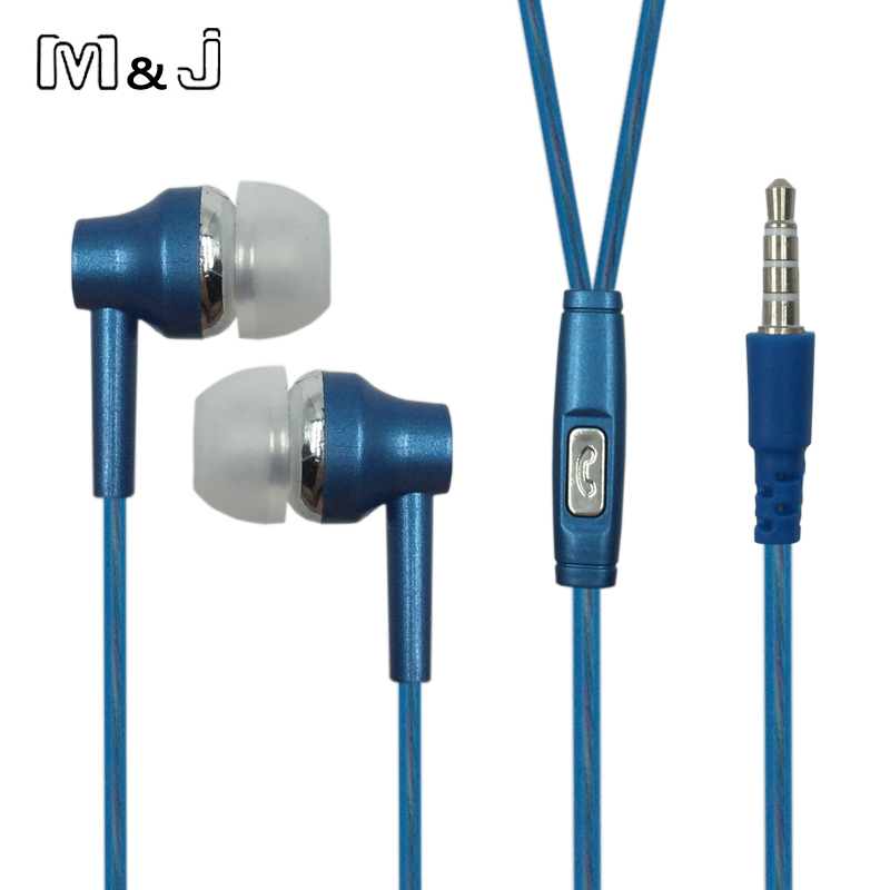 M&J High Quality Perfume Metal Earphone Noise Canceling Earphone Bass Hifi Earbuds With Microphone For IPhone Samsung Apple 6 6s