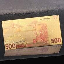 24K позолоченные банкноты копия бумажных денег 500 евро коллекция банкнот Домашнее украшение ремесла