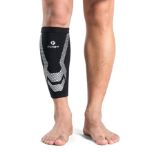 Kuangmi 1 Piece Sport Protective Calf Compression Sleeves Professional Running Cycling Safety Shin Guard Football Support