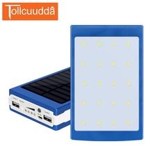 Tollcuudda Smartphone Extérieure/Intérieure 10000 mAh Powerbank Externe Portable Batterie Solaire Universel de Banque de Puissance pour Sumsung