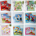 S or L size Kids Cartoon Coloring Book with Stickers Children Drawing Sketch Painting Graffiti Elsa Cars Despicable me kitty WYQ