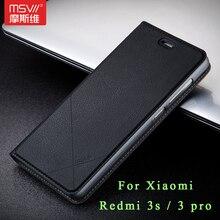 Xiaomi Redmi 3 S чехол оригинальный Msvii Роскошные Xiaomi Redmi 3 Pro Чехол-подставка Флип кожаный чехол для Xiaomi Redmi 3 s случаях 5.0″