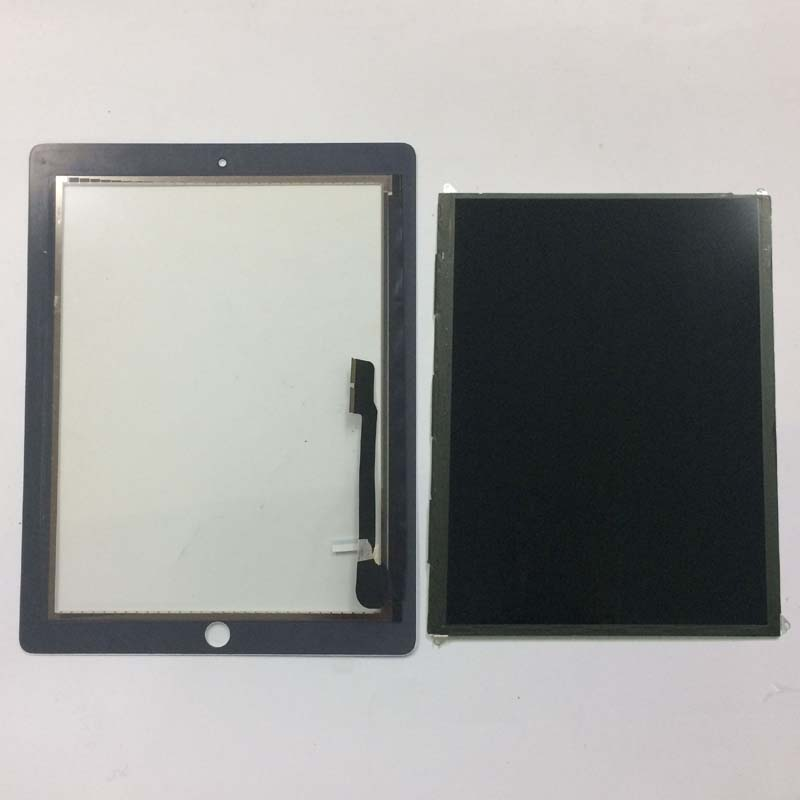 Black / White For iPad 4 4th Gen A1458 A1459 A1460 Touch Screen Digitizer Sensor Glass + LCD Display Screen Panel Monitor