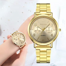 купить 2019 New Brand Luxury Women Watch Quartz Stainless Strap Analog Rose Gold Wrist Watches Female Clock YOLAKO Relogio Feminino по цене 184.32 рублей