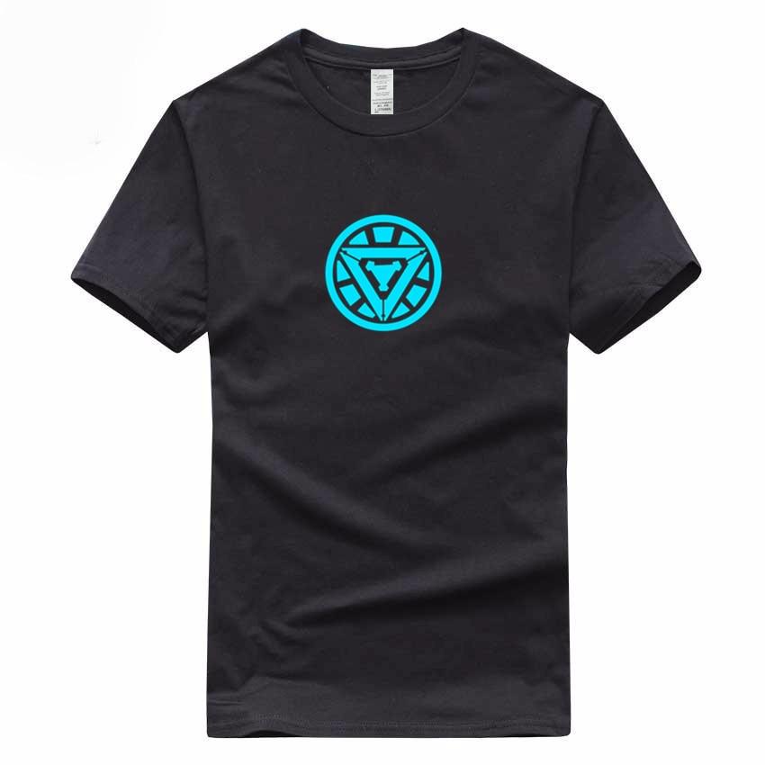 Mens Noctilucence Luminous Stark T shirt Fashion night shining Clothing Cotton T-shirt For Man And Women,Brand Camiseta,GMT032