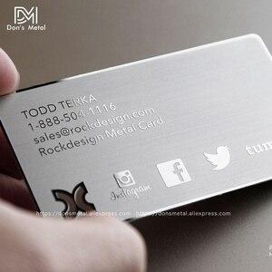 Image 2 - 金属名刺金属会員カードデザインミラー金属名刺鏡面カードカスタムステンレス鋼 busine
