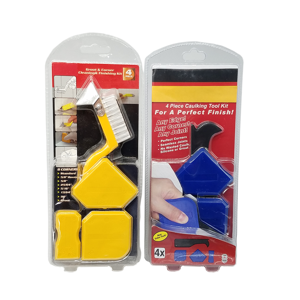 4Pieces Caulking Tool Kit For Perfect Finish Perfect Cornerrs Seamless Joints NO Wasted Caulk ,Silicone Or Grut Cleaning Kit
