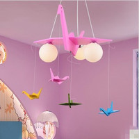 Современный мультфильм Бумажные краны принцесса детская комната подвесной светильник спальня лампы