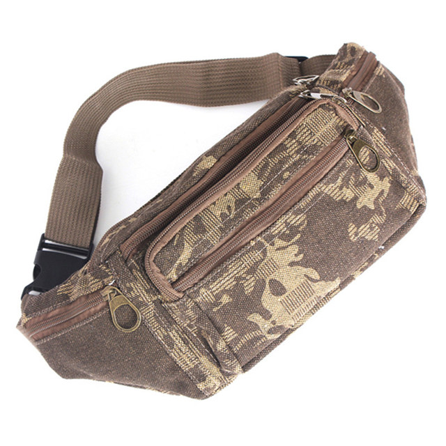 Canvas Waist Pack Bag for Men