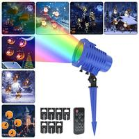 RF Wireless Remote Control High Light Cartoon Projector Lamp LED Lawn Pin Lamp Halloween Christmas Holiday Decoration Light