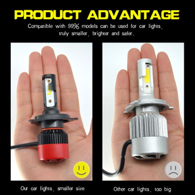 Fuxuan Car Headllight H4 LED H7 LED Bulb H1 H11 9012 9005 9006 25W 2800LM 6000K Fog Light 12V Auto Headlamp Lamps in Car Headlight Bulbs LED from Automobiles Motorcycles