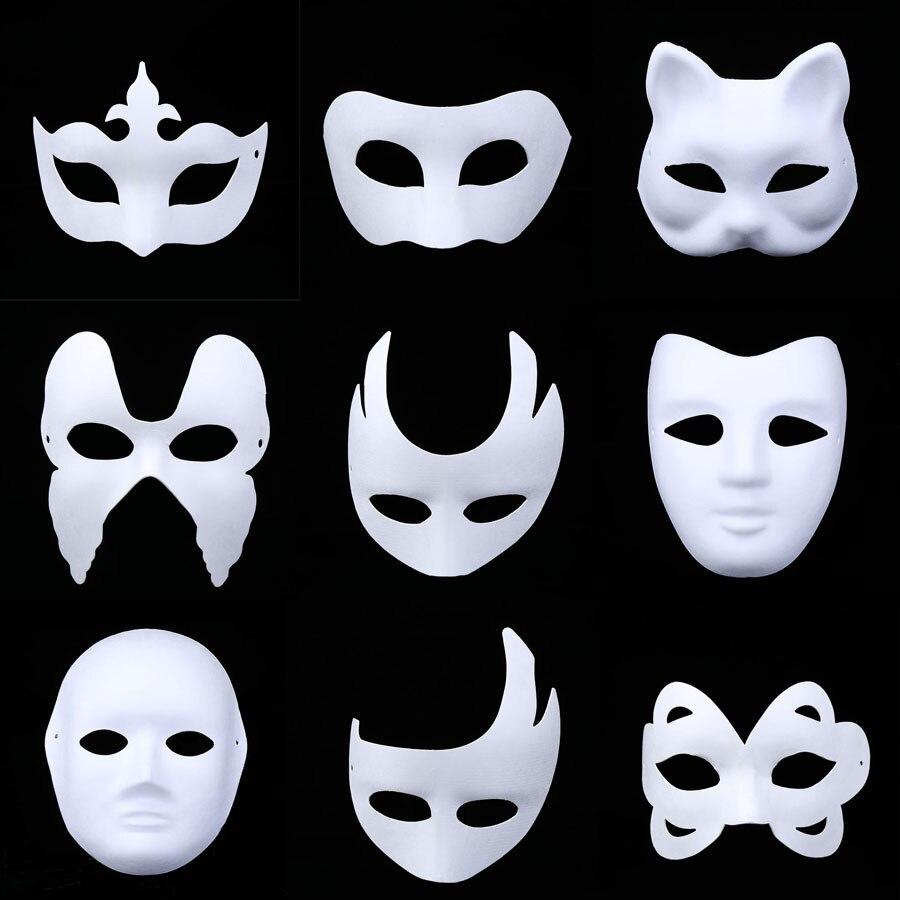 Ev Ve Bahce Ten Parti Maskleri De Diy Hamuru Kedi Tilki Beyaz