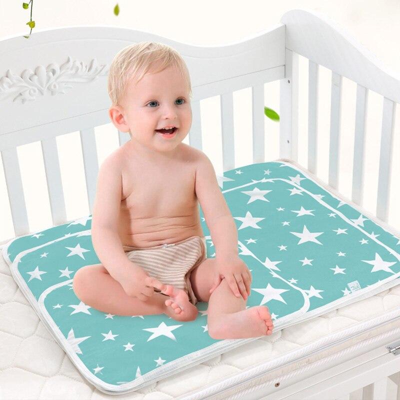Детский водонепроницаемый матрас, мультяшная простыня, пеленка для ребенка, пеленальный коврик, хлопок, экологическая Пеленка, пеленка, пеленка для младенцев