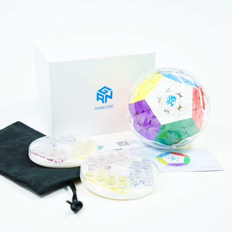 Gan 3x3 Megaminxeds Magic Cube Stickerless Speed Professional 12 ด้านปริศนา Cubo Magico ของเล่นเพื่อการศึกษาเด็ก-ใน ลูกบาศก์มหัศจรรย์ จาก ของเล่นและงานอดิเรก บน   2