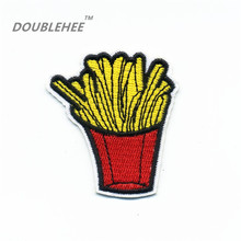 DOUBLEHEE 5cm*5.6cm Embroidered Iron On Patches Chips With Red Bags Design Beauty Badges diy Bag Coloth accessories