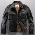 Do the old Genuine Leather  Garments Lapel  Thicken  Leather jackets  Men Short Motorcycle leather