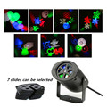 Free shipping 4W Mini LED Stage Light Projector with Insert Cute Pattern Card Heart Snowflake Spider Party Wedding Xmas lights