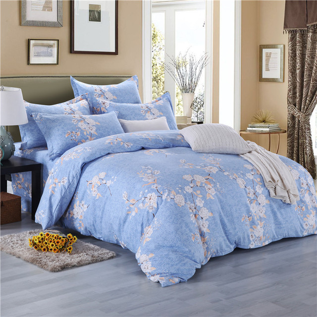 Free Shipping Modern Style Egyptian Cotton Duvet Cover Set Bed Sheet  Pillowcase King Size Super Soft