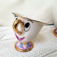 Phong cách cũ Beauty And the Beast Mrs Chỉ mug tea coffee cup đáng yêu Sinh Nhật dễ thương quà tặng phiên bản Giới Hạn Bài Nhanh