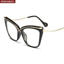 Peekaboo Transparent Cat Eye Glasses Frames For Women