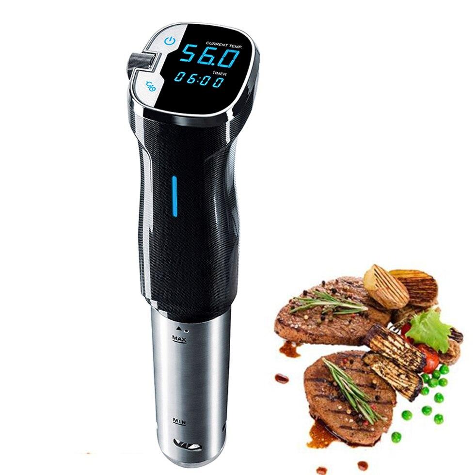 Basse Température Sous Vide mijoteuse 1000 W Puissant robot de cuisine Cuisinière 220 V Thermoplongeur LCD minuterie numérique Affichage