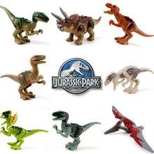 Jurassic Single Sale Dinosaurs Park Pterosauria Triceratops Indomirus T-Rex World Figures legoing Bricks Toys Building Blocks