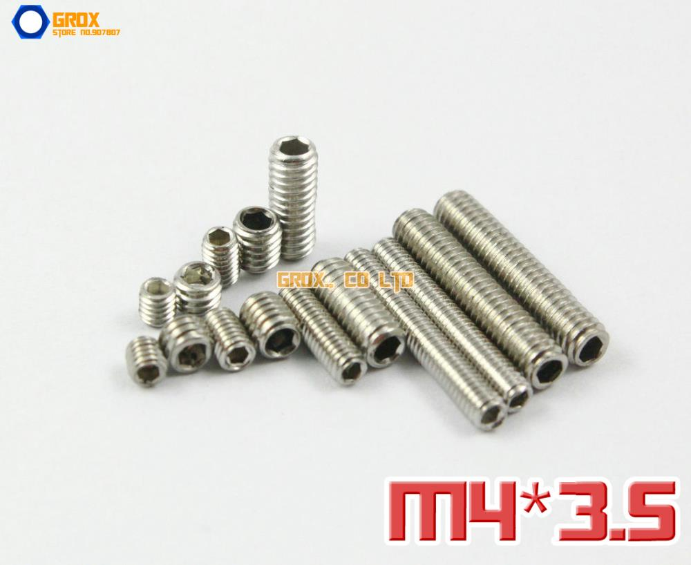 200 M2.5 x 5mm 12.9 Grade Alloy Steel Grub Screws Cup Point Hex Socket Set Screw