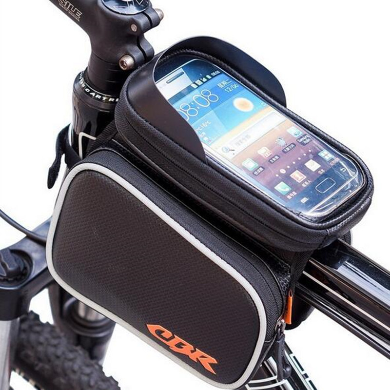 Free <font><b>Bicycling</b></font> Car Front Bag Touch Screen Mobile Tube Package <font><b>Frame</b></font> Bag Bike Cycling Necessary image