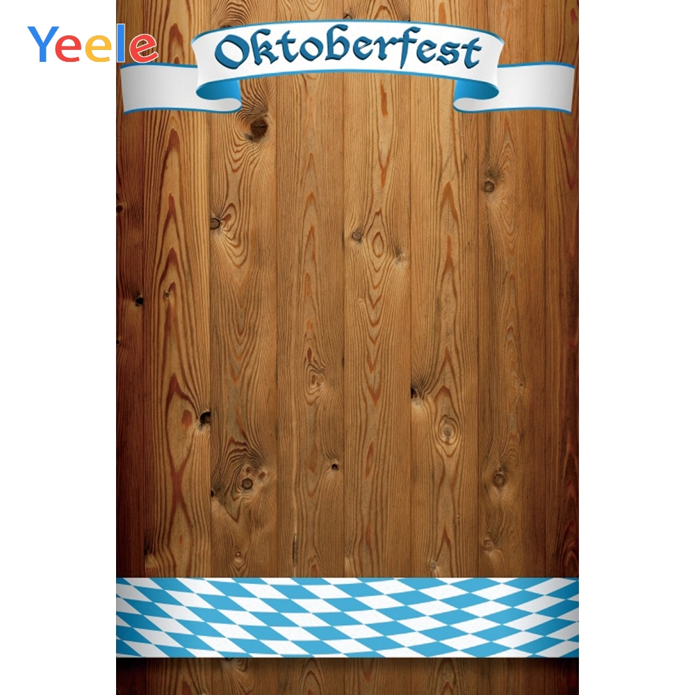 Yeele Oktoberfest Carnival Natural Wood Party Ribbon Photography Backdrop Personalized Photographic Backgrounds For Photo Studio