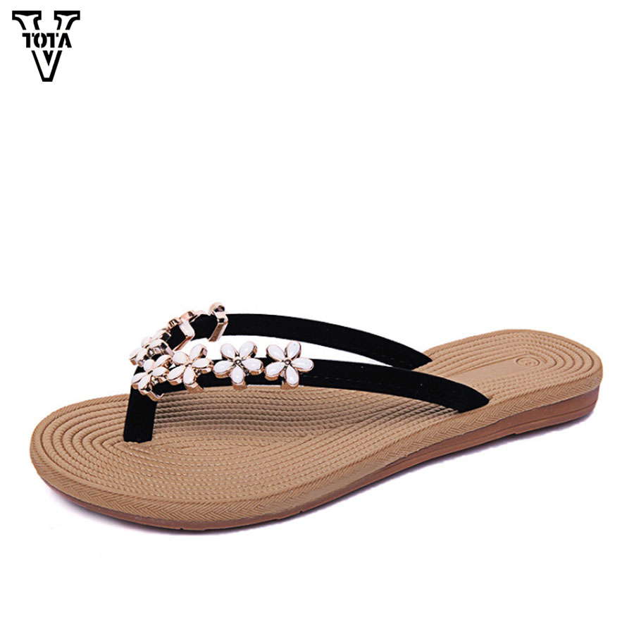 VTOTA Summer Shoes Woman Slippers Women Sandals Flat Female Shoes For Student Flip Flop Casual Women Shoes Zapatillas FC vtota shoes woman flat summer shoes fashion genuine leather single shoes 2017 new zapatillas mujer casual flats women shoes b44