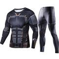 2018 Лига Справедливости Бэтмен печатных длинные футболки набор для мужчин компрессионные рубашки 2018 Новые Топы для мужчин Косплей Костюм Stes