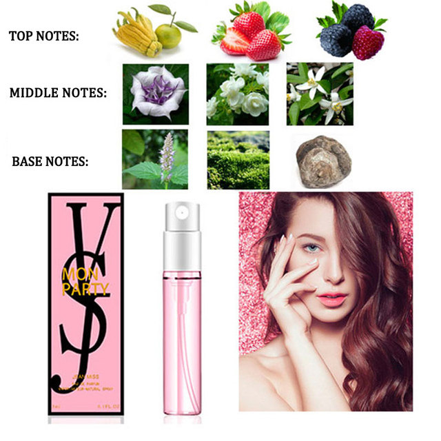 1PCS 3ML Perfume For Men And Women Atomizer Bottle Glass Fashion Lady Female Parfum Long Lasting Flower Fragrance Deodorant 1