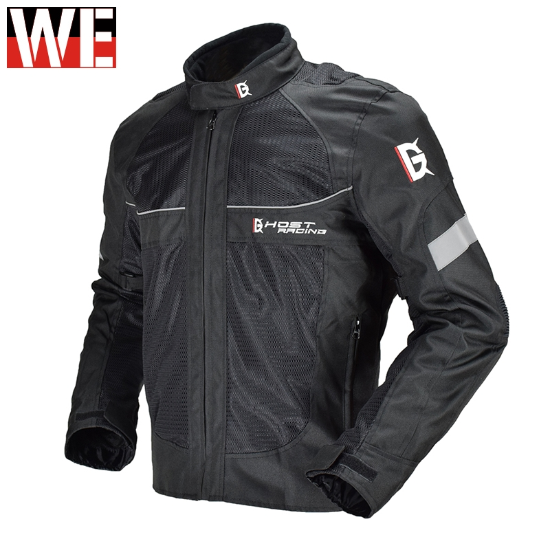 GHOST RACING Motorcycle Jacket Reflective Motocross Racing Off-raod Safety Jacket Full Body Protective Gear Armor Moto Clothing