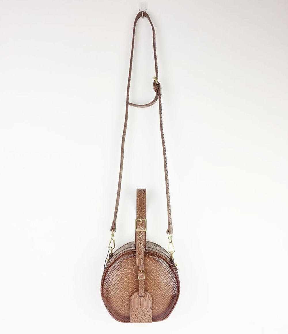 2019 осенняя и зимняя новая кожаная сумочка маленькая круглая сумка замок одно плечо сумка мягкая однотонная Модная элегантная сумка мессенджер - 2