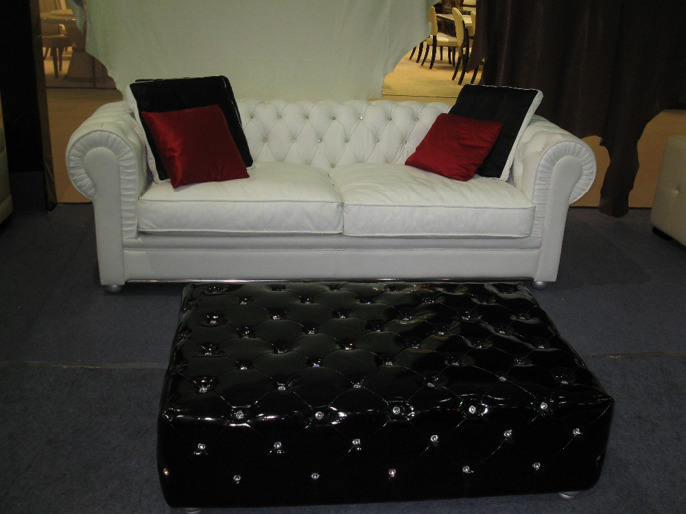 Living Room Furniture Red Leather Stool With Crystal Buttoms Living Room  Leather Ottoman Long Size In Stools U0026 Ottomans From Furniture On  Aliexpress.com ...