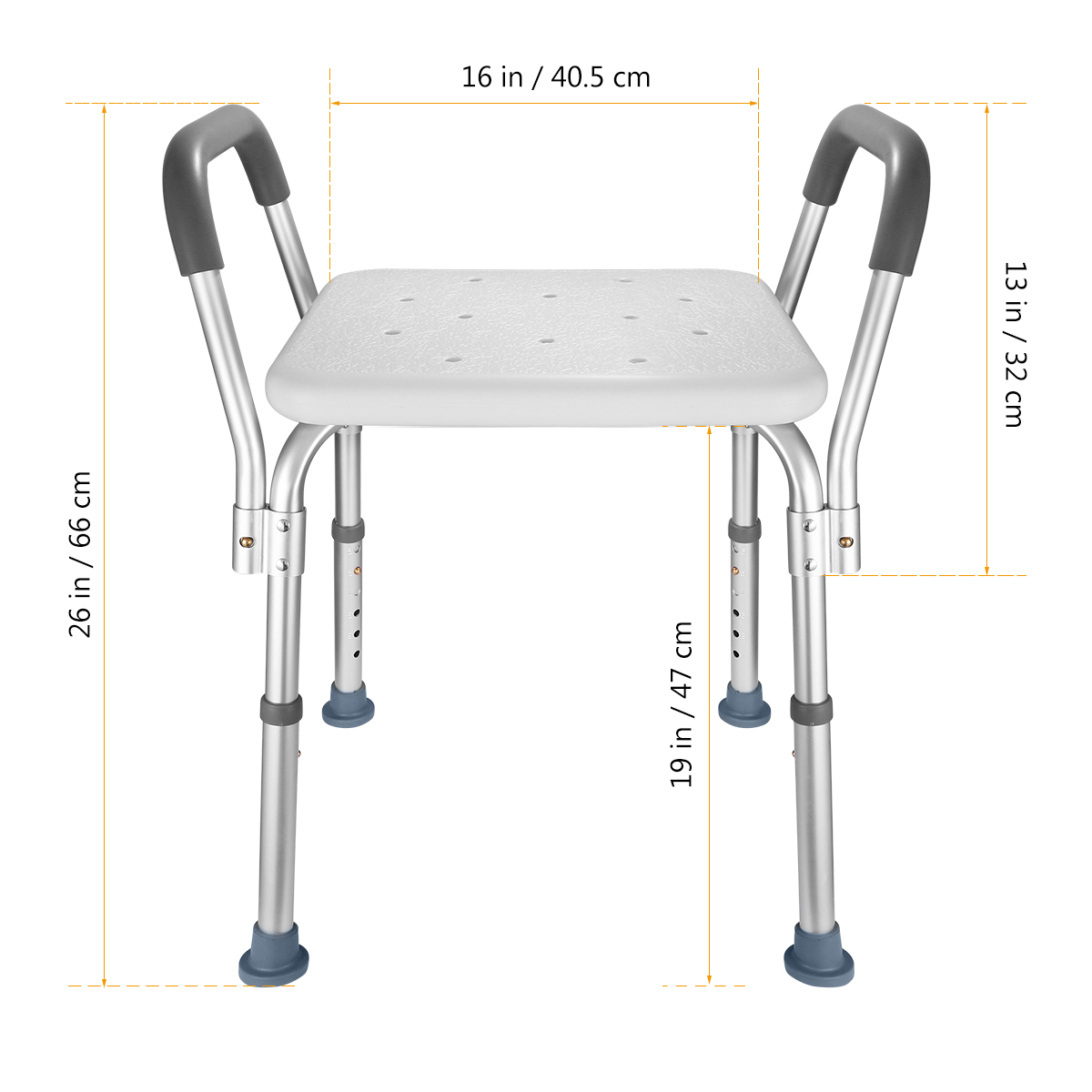 1PC Bath Chair Adjustable Portable Bathing Chair with Armrests for Pregnant Women in Braces Supports from Beauty Health