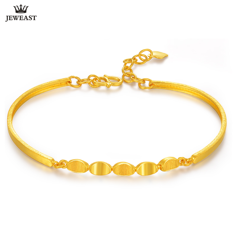 24k Pure Gold Bracelet Real 999 Solid Bangle Simple Fashion Beautiful Paddy Trendy Clic Fine Jewelry Hot New 2018