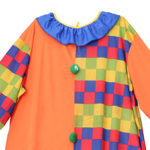 Circus Clown Kostüm Komödie Grids Fancy Dress Up Party Herren Overall w/Hut(China)
