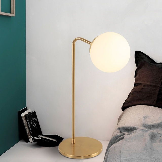Minimalist Frosted Glass Ball Table Lamp Variations
