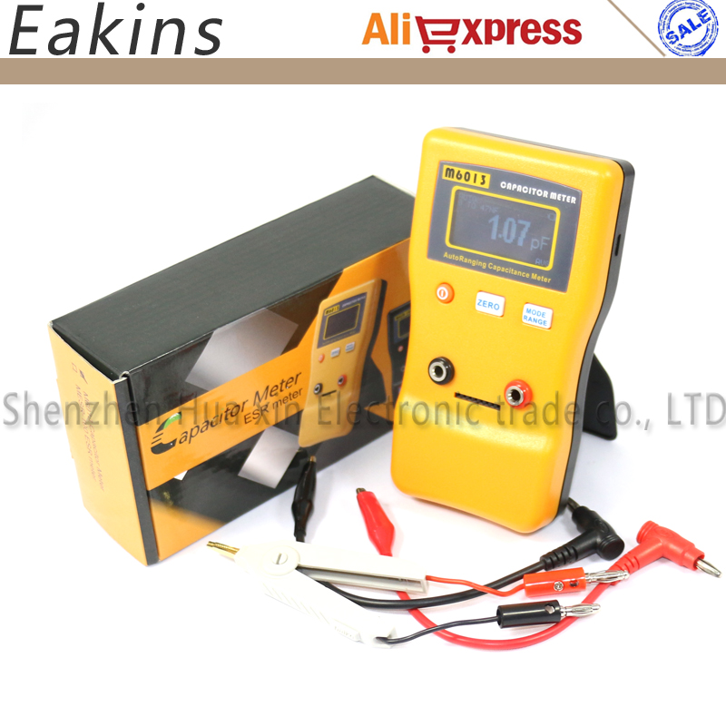Free shipping High precision 1% Capacitance Meter digital display M6013 automatic measurement 0.01pF to 470 mF high quality precision skin analyzer digital lcd display facial body skin moisture oil tester meter analysis face care tool