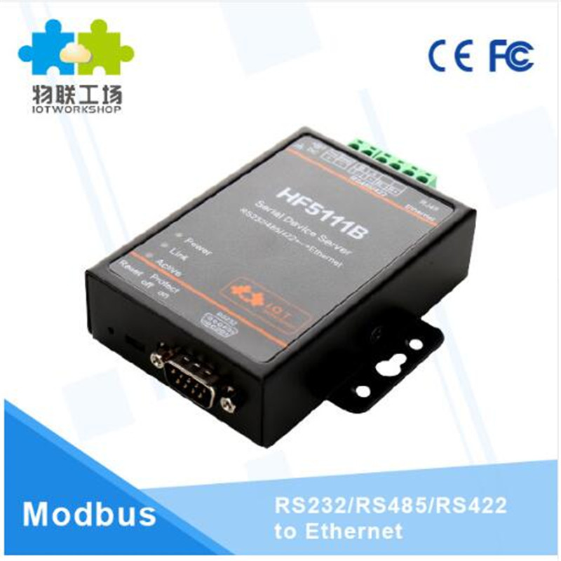 Official Wifi module 5111B RJ45 RS232/485/422 Serial To Ethernet Free RTOS Serial 1 Port Server Converter Device Industrial parts 5pcs lot wifi232 rj45 ethernet port serial port wifi to uart usb to uart wifi module antenna