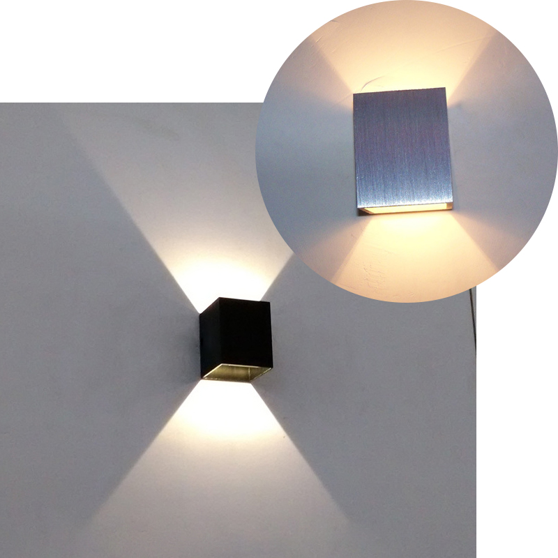 modern 1w led wall scone square wall lamp up down light decor lamp bedside bedroom warm cheap wall lighting