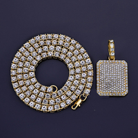 Bling Bling Men S Hip Hop Iced Out 5mm1 Row Simulated Diamonds Chain Necklaces Luxury Brand