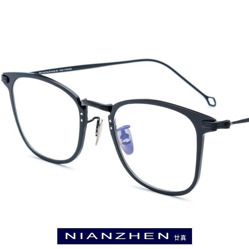 Titane pur lunettes cadre hommes Vintage carré myopie optique cadre Prescription lunettes pour hommes lunettes de vue 1131