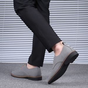 Image 4 - 2020 High Quality Suede Leather Soft Shoes Men Loafers Oxfords Casual Male Formal Shoes Spring Lace Up Style Mens Shoes