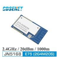 JN5168 Zigbee 2,4 ГГц 100 мВт беспроводной передатчик приемник CDSENET E75-2G4M20S SMD 20dBm PCB IPEX 2,4 ГГц rf приемопередатчик модуль