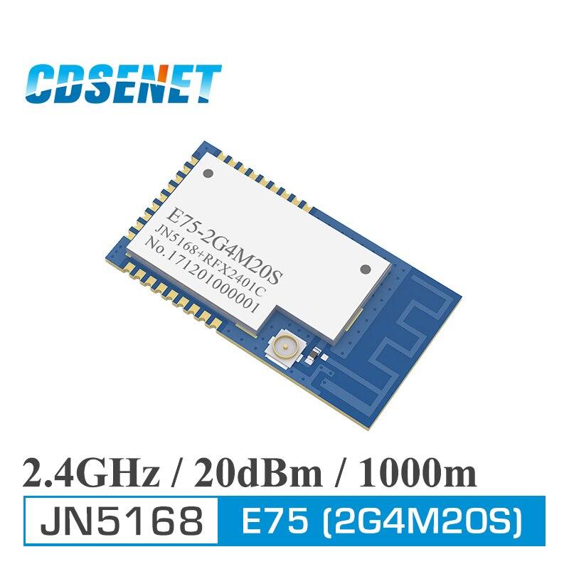 JN5168 Zigbee 2,4 GHz 100 MW transmisor receptor inalámbrico CDSENET E75-2G4M20S SMD 20dBm PCB IPEX 2,4 GHz módulo transceptor rf